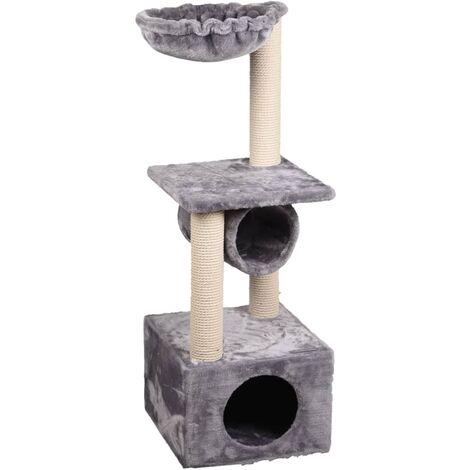 FLAMINGO Cat Scratching Tree Gulf Grey 35x35x103 cm - Grey