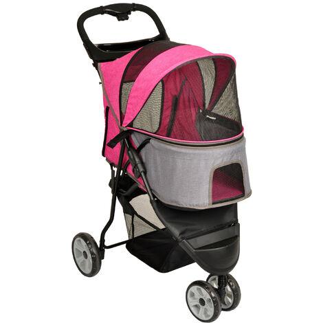 Silla de paseo Kiara rosa.54 x 81 x H 99,5 cm. para perros