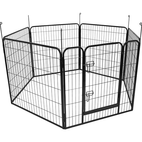 FLAMINGO Dog Kennel Zecta 162x140x80 cm Black - Black