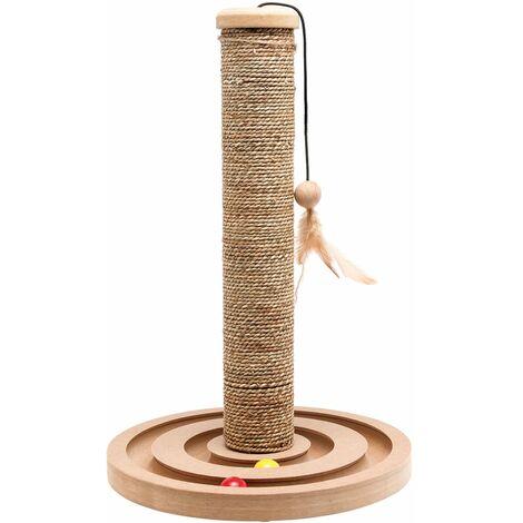 FLAMINGO Griffoir pour chats avec jouet bille Brigitte 30x44 cm 560146