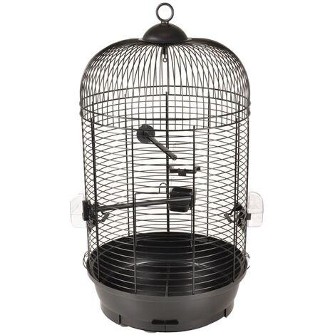 "main image of ""FLAMINGO Parakeet Cage Sanna 2 35x35x67 cm Black - Black"""