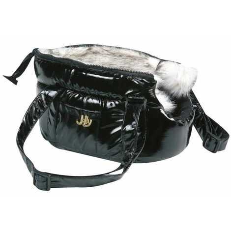 "main image of ""FLAMINGO Pet Carrying Bag Lola Black 25x16x15 cm 503408 - Black"""