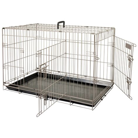 FLAMINGO Pet Crate Ebo Metallic Brown 109x70x77 cm 517583