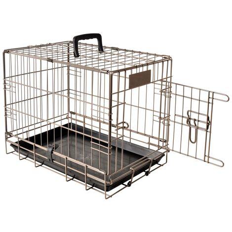 FLAMINGO Pet Crate Ebo Metallic Brown 47x31x38 cm 517579