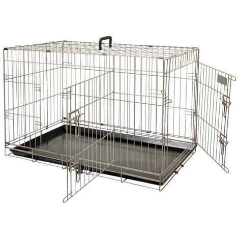 FLAMINGO Pet Crate Ebo Metallic Brown 61x43x50 cm 517580