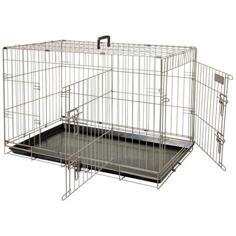 FLAMINGO Pet Crate Ebo Metallic Brown 92x56x64 cm 517582