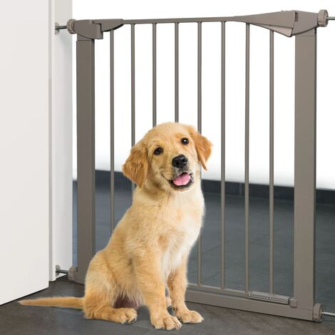 "main image of ""FLAMINGO Pet Safety Gate Salus Grey 79-84 cm - Grey"""