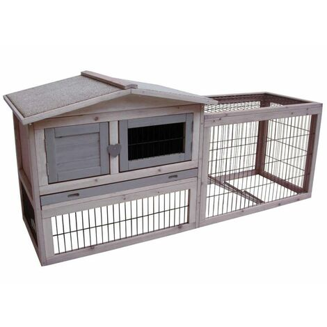 FLAMINGO Rabbit Hutch Sunshine Cottage 155x53x70 cm 201902 - Grey