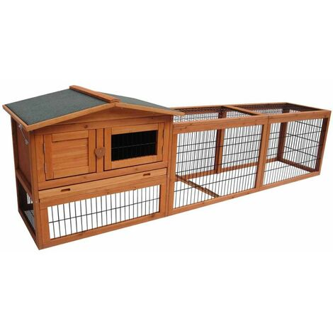 FLAMINGO Rabbit Hutch Sunshine Jumbo 230x53x70 cm 200076 - Brown