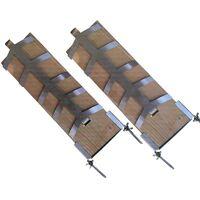 Flammlachs Fischfilet Set 2tlg aus Buchenholz mit Haltern für Feuerschalen 2354