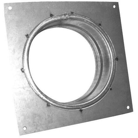Flange carrée en métal Ø160mm - Conduit de ventilation