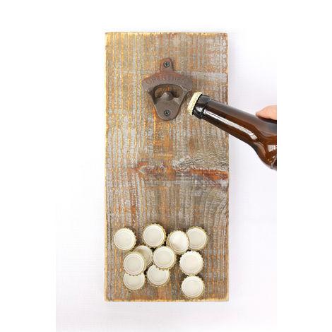 Flaschenöffner 5090 mit Magnet Bieröffner 32 cm Wandflaschenöffner Öffner
