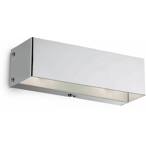 FLASH chrome wall light 2 bulbs