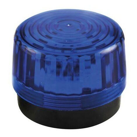 FLASH STROBOSCOPIQUE A LED - BLEU - 12 VCC - ø 100 mm (RI2294)