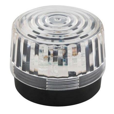 FLASH STROBOSCOPIQUE A LED - TRANSPARENT - 12 VCC - ø 100 mm (RI2297)