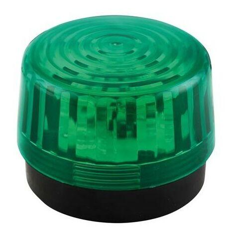 FLASH STROBOSCOPIQUE A LED - VERT - 12 VCC - ø 100 mm (RI2295)