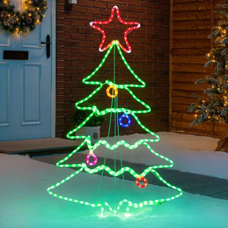 Flashing Christmas Tree Silhouette