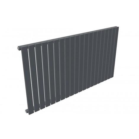 Flat Column Anthracite Horizontal Single Panel Designer Radiator