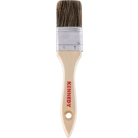 Flat Paint Brushes, Natural Bristle