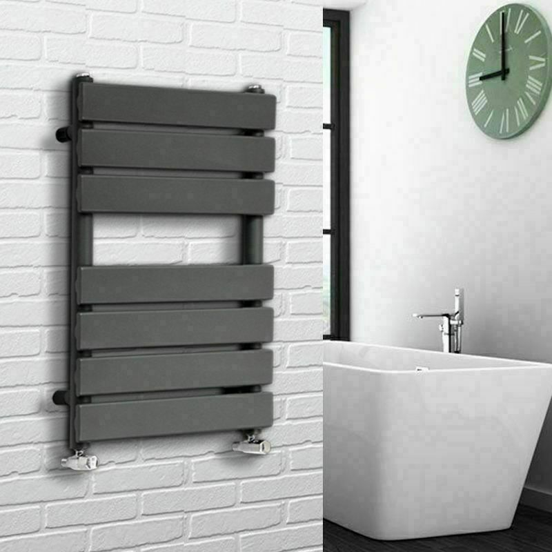 Designer Flat Heated Towel Rail Bathroom Warmer Radiator Anthracite 1600x600mm