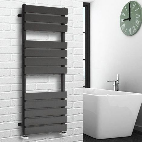 Flat Panel Heated Towel Rail Anthracite