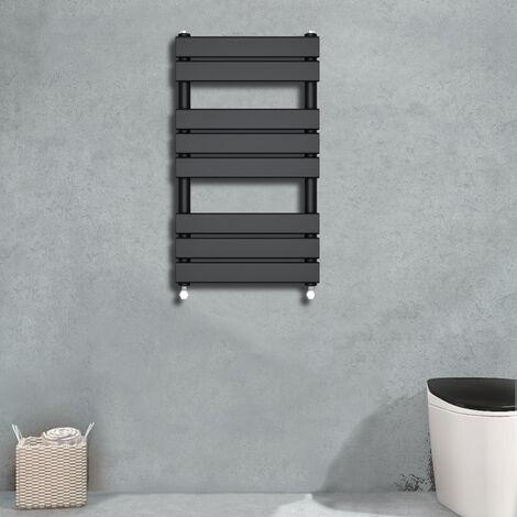 Flat Panel Heated Towel Rail Black