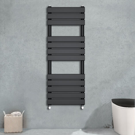 Flat Panel Heated Towel Rail Black