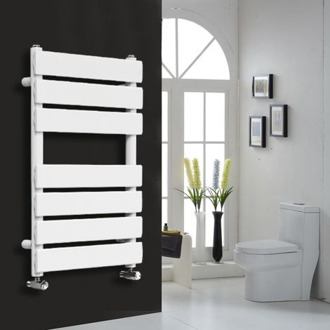 Flat Panel Heated Towel Rail White