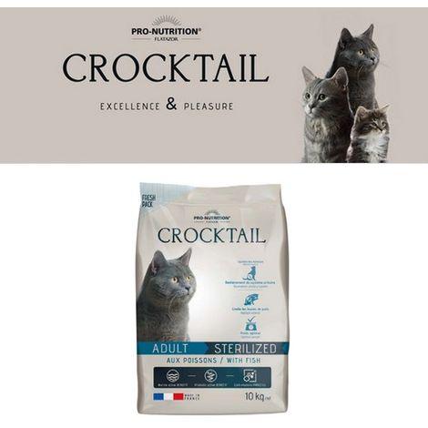 Flatazor Crocktail Adulte Stérilisé au poissons pour chat Désignation : Crocktail Adulte Stérélisé | Conditionnement : 2 kg Flatazor Crocktail FC2050