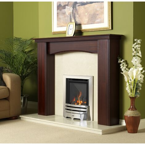 Flavel Kenilworth Traditional Chrome Gas Fire Fireplace Large Window Steel Build