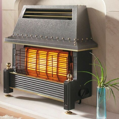 Flavel Regent Gas Fire Black Outset FRGCN0EN Electronic Ignition 4.5kW Heating