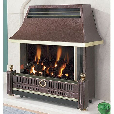 Flavel Renoir LFE Gas Fire Bronze Outset FRECR0EN Convector Gas Fire Coal E