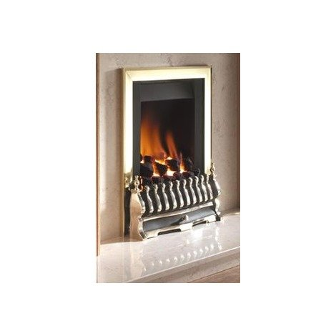 Flavel Stirling Plus Gas Fire - Electronic Flame Control - Brass