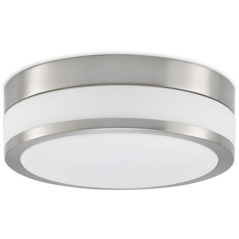 Flavi - plafoniera LED per bagno nichel satinato