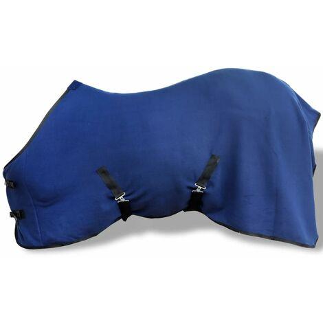 Fleece Rug with Surcingles 105 cm Blue