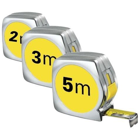 Flessometro/Metro autoretrattile 5m - 3m - 2m set 3 pezzi - OFFERTA!
