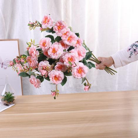 Fleurs Artificielles, Decoration De Bricolage A La Maison, 7 Pcs, Type 6