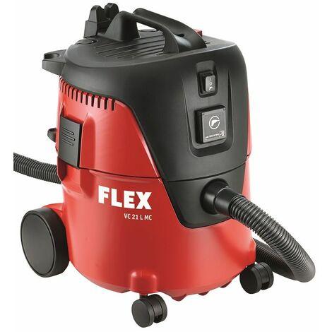 Flex Aspirateur de sécurité avec nettoyage manuel du filtre, 20 l, classe L, VC21L MC + Sacs aspirateur en non tissé - 409979
