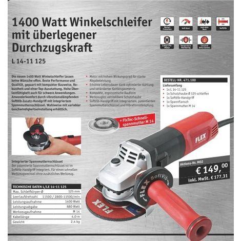 Flex L 14-11 125 Winkelschleifer 1400 Watt 125 mm #471.100