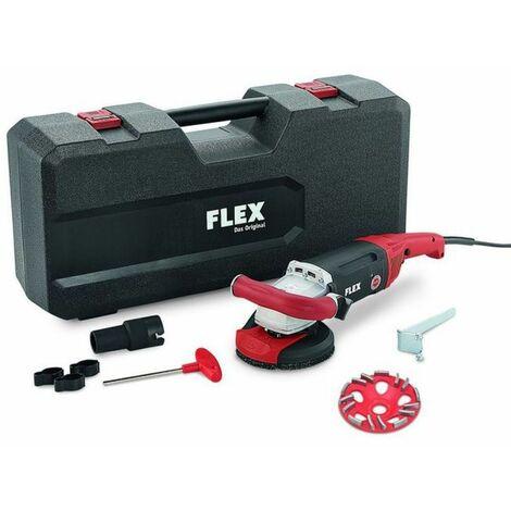 Flex LD 18-7 125 R, Kit E-Jet Meuleuse béton puissante 1800 W pour poncer près du mur, 125 mm