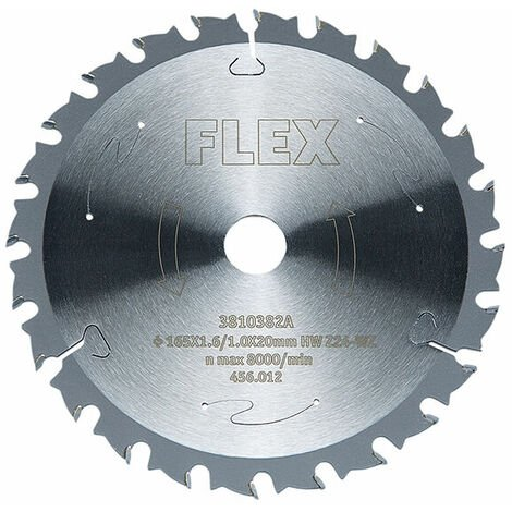Flex Power Tools 456012 Circular Saw Blade with Alternating Teeth 165 x 20mm x 48T