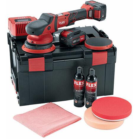 Flex Power Tools 465054 Cordless Random Orbital Polisher 150mm 18V 2 x 5.0Ah Li-ion