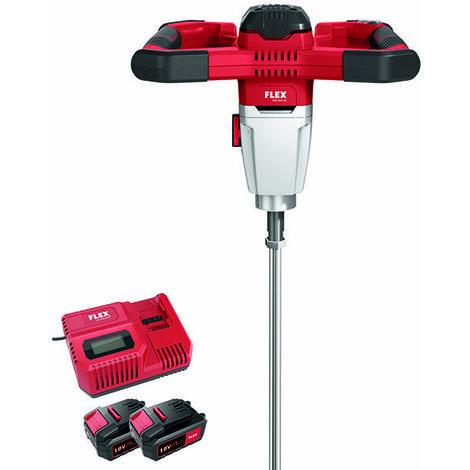 Flex Power Tools 470988 MXE 18.0-EC/5.0 SET Cordless Mixer 18V 2 x 5.0Ah Li-ion