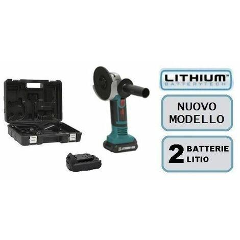 Flex smerigliatrice a batteria con 2 batterie litio 18v li-on 115 mm concord