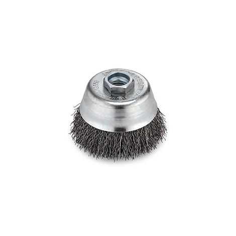 2 x Topfbürste Drahtbürste 65 mm gezopft M14 für Flex Bürste Schleifbürste