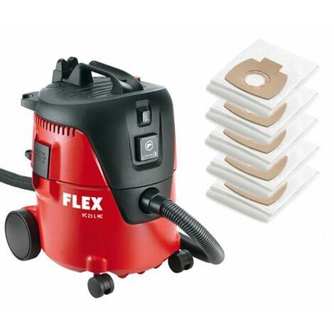 Flex VC21LMC Aspirador industrial con bolsas de filtro (5 uds.) - 1250W - Clase L - 20L