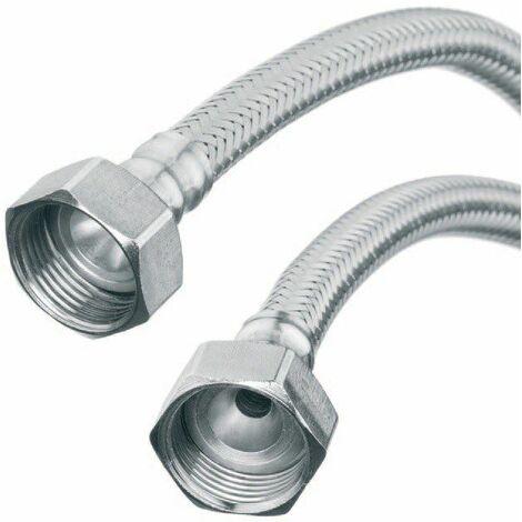 """Flexi Flexible Kitchen Basin Monobloc Tap Connector Hose Pipe 3/4"""" X 3/4"""" 40cm Length"""