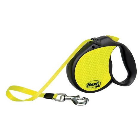 Flexi Neon Tape Dog Lead (5m) (Yellow)