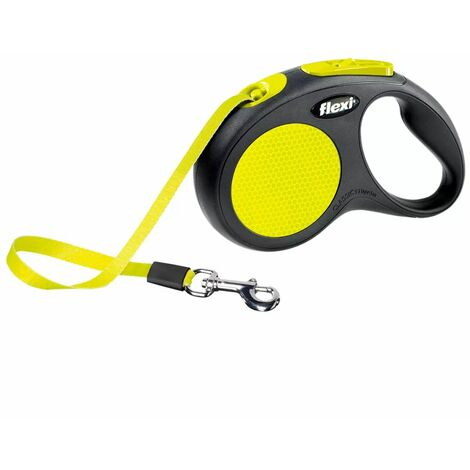 Flexi Tape Leash New Neon Size M 5 m Black and Neon 20916