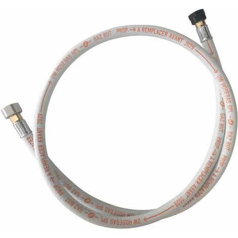 Flexible 1,5m GPL Butane et Propane - Blanc